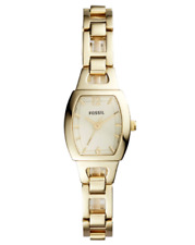 NWT Fossil Women's Isobel Three Hand Stainless Steel Gold Tone Watch BQ1067 $115