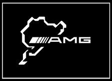 2x Mercedes AMG Nürburgring Schriftzug weiss 100 x 150mm Aufkleber Sticker