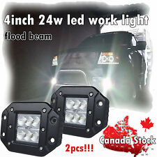 """2x 4inch Cube Led Light Bar Flood Beam Work Lamp Offroad Driving Truck Pods 4"""""""