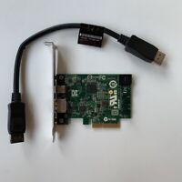 HP THUNDERBOLT-2 753732-001 PCI-E  I/O Card 751365-001 With Cable