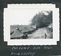 WWII 1945 562nd Signal Aircraft WarningGI's  Wiesensteig Germany Photo our camp