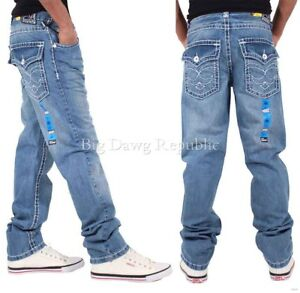 Peviani Men's Designer Denim Lawrence Jeans, Is Time Money, New Hip Hop Era SWB