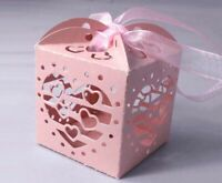 12pcs Mini Gift Boxes Pierced Boxs For Wedding Party Wrap Candy LED Candles HYA