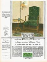 1920s BIG Vintage Karpen Furniture Chippendale Replica Chair Photo Print Ad