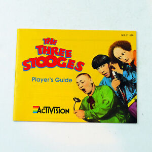 Instruction Booklet THE THREE STOOGES (Nintendo NES 1989) Manual Only