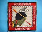 VIETNAM WAR PATCH, US D TROOP AIR 1st SQ 4th AIR CAVALRY AERO SCOUT OUTCASTS