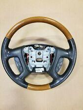 2008-2012 Buick Enclave Steering Wheel Black W/ Wood Trim OEM 25807100 15868340