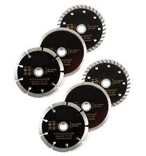 """6pc 4-1/2"""" Diamond Blades DRY/WET/TURBO Saw Blade Wheels Tile Concrete"""