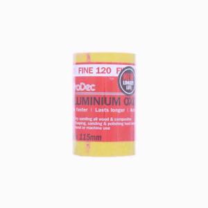 Prodec Aluminium Oxide 120 Grit Fine Sanding Paper For Hand & Machine Use 5mtr
