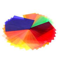 Neewer 35Pcs Square Full Color Corrected Gel Filter Kit Speedlite Flash for Sony