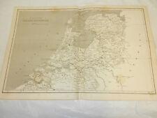 1819 Antique Map// THE SEVEN UNITED PROVINCES // NETHERLANDS