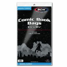 NEW 1000 BCW Current Comic Book regular Poly Bags and Acid Free Backer Boards