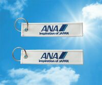 ANA All Nippon Airlines Keychain Keyring Baggage Luggage tag