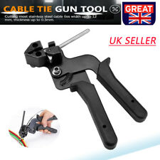 21cm Stainless Steel Metal Cable Tie Gun Automatic Tensioner Cutter Tool Crimper