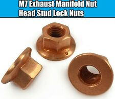 24x M7 Exhaust Manifold Nuts For BMW X1 X3 X5 3 Series Copper Hex Head Stud Lock