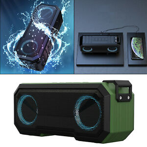 TWS Bluetooth Speakers Stereo Sound Heavy Bass Multi-Colors Lights for Home