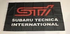 Subaru Style5 Tecnica International STI Banner Flag Car Racing Mechanic Workshop