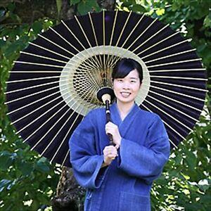 Japanese Traditional Black Bamboo Umbrella Bangasa Hande Made Japan brand new