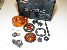 YY-MADMAX HPI KM ROVAN BAJA 1/5 5B 2 SPEED GEAR SET 3 RATIOS WITH COVER ORANGE