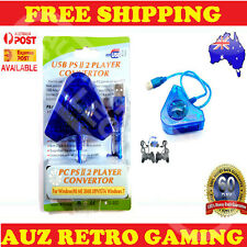 Dual PS1 PSX PS2 to PS3 PC USB Controller Adapter Converter Cable