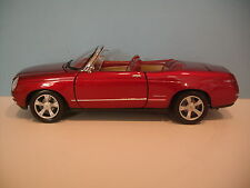 Rare 1:18 Motor Max Red CHEVROLET BEL AIR CONVERTIBLE CONCEPT Diecast Car
