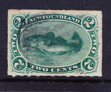 CANADA NEWFOUNDLAND 1879 SG41 2c bluish-green rouletted - fine used. Cat £50