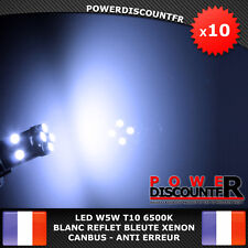 10 Veilleuses LED W5W T10 Canbus ANTI ERREUR ODB 6500k XENON 8 SMD voiture moto