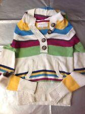 XS X-Small Juniors Aeropostale Knit hooded sweater multi-color cream striped