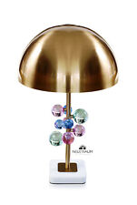 Mushroom crystal bubble table desk light with white marble plinth. High Quality.