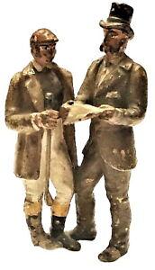 Franz Xavier Bergmann, Exchanging News, Miniature Vienna Bronze, ca. 1900