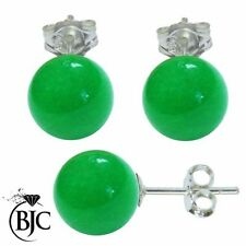 Orecchini di lusso verde in argento sterling