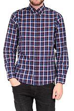 Hahnentritt-Maschinenwäsche Klassische Herrenhemden im Button-Down-Kragen-Stil