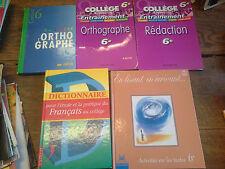 5 livres collège 6ème rédaction activités sur les textes orthographe Français
