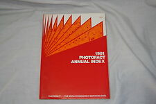 Howard W. Sams Photofact Annual Index 1981 Vintage Radio TV Service Information