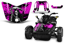 Can Am F3-S Spyder Roadster Hood Graphic Kit Decal Sticker Wrap 2015-2016 REAP P