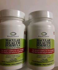 EyeScience Macular Health Formula Eye Vitamin  60 x2 =120 Caps. Exp date 08/21
