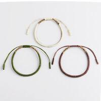 Tibetan Buddhist Braided Bracelet Lucky Knot Rope Adjustable Men Women Handmade