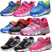 New Child Shoes.Wheel Shoes Girls Boys LED Light UP Light Roller Skate Shoes