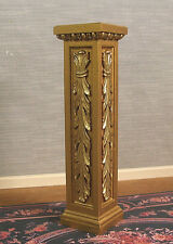 1:6  scale  PEDESTAL  /  PLANT  STAND ~ 2 Tone Gold  ~ Dollhouse ~ Furniture