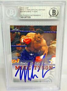 Mike Tyson Signed Leaf Trading Card #SEMT5 Beckett BAS