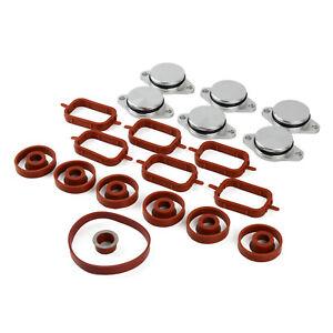 Manifold Gaskets & Swirl Flaps Kit 11617800585 for BMW X3 E83X5 E53 X6 E71 E72