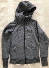 Lululemon Sz 4 Scuba Hoodie IV Jacket Gray Coat Cotton + Fleece Yoga
