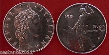 C28  ITALY  ITALIA REPUBBLICA ITALIANA   50 LIRE 1981   KM 95.1  FDC / UNC