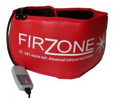 firzone sauna belt slimming toning far infrared sweat belts portable wrap red