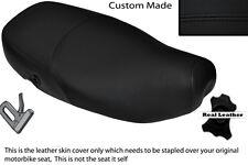 BLACK STITCH CUSTOM FITS PIAGGIO VESPA LX 125 DUAL LEATHER SEAT COVER