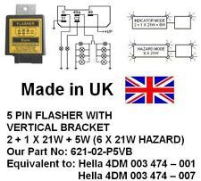 24V 5 PIN FLASHER Equivalent: 4DM003474001,4DM003474007, 2+1X21W+5W,6X21W Hazard