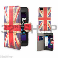 FLIP WALLET PU LEATHER CASE COVER For BlackBerry Z10 WITH FREE SCREEN PROTECTOR