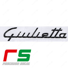alfa romeo giulietta logo old ADESIVI sticker decal carbon look 4d