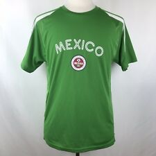México Soccer Futbol Mens Medium Green Short Sleeve Jersey By Simply For Sports