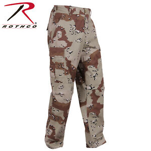 6 Color Desert Chocolate Chip Camo BDU Pants Battle Dress Uniform Rothco